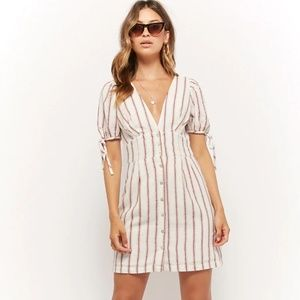 Plunging Striped Dress